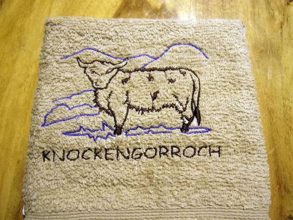 Knockengorroch face cloth